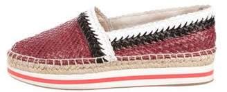 Prada Woven Leather Espadrilles