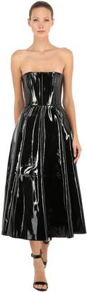 Alex Perry Patent Leather Bustier Dress