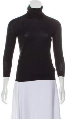 Fendi Turtleneck Rib Knit Sweater