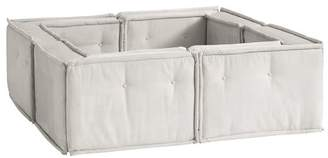Pottery Barn Teen Cushy Pit Sectional Set, Ivory Tweed, IDS