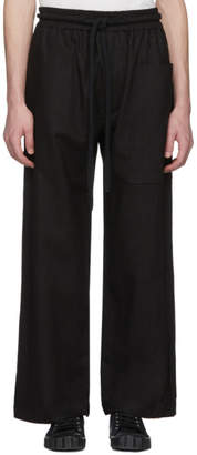 Phoebe English Black Linen Rope Tie Wide-Leg Trousers