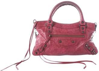 Balenciaga City Burgundy Leather Handbag
