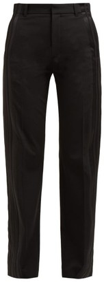 Balenciaga Striped High Rise Trousers - Womens - Black