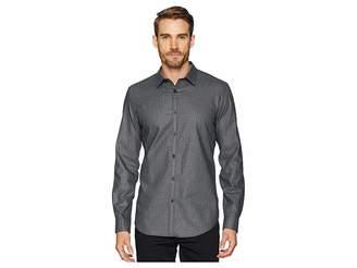 Calvin Klein Long Sleeve Seersucker Shirt Men's Clothing