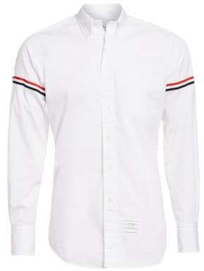 Thom Browne Button-Down Two-Toned Armband Button-Down Shirt