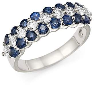Bloomingdale's Diamond and Blue Sapphire Ring in 14K White Gold - 100% Exclusive