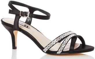 818c6cef4a75 Next Womens Quiz Wide Fit Satin Diamanté Low Heeled Sandal