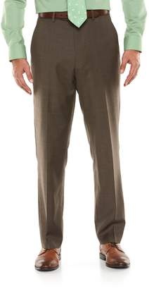 Chaps Big & Tall Performance Classic-Fit Wool-Blend Comfort Stretch Flat-Front Suit Pants