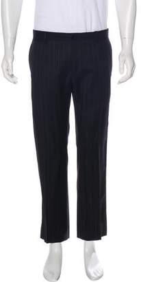 Dolce & Gabbana Striped Straight Leg Dress Pant