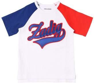 Zadig & Voltaire (ザディグ エ ヴォルテール) - ZADIG&VOLTAIRE ロゴパッチ コットンジャージーTシャツ