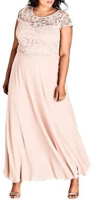City Chic Elegance Maxi Dress Set