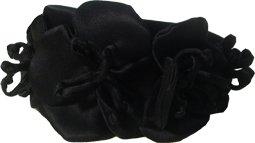 Erin Fetherston Black Satin Flower Headband