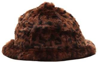 Kangol Leopard Print Faux Fur Bucket Hat