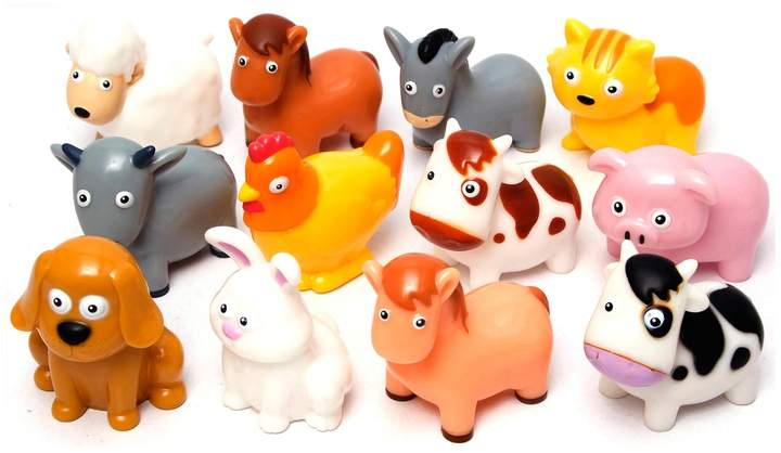 Boley 12-Piece Farm Animal Bath Bucket