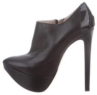 Ruthie Davis Leather Platform Ankle Booties