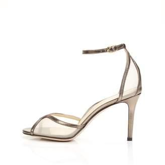 Marion Parke Lolita   Mesh Stiletto Sandal With Ankle Strap