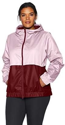 Core 10 Women's Plus Size Water-Resistant Performance Windbreaker Jacket