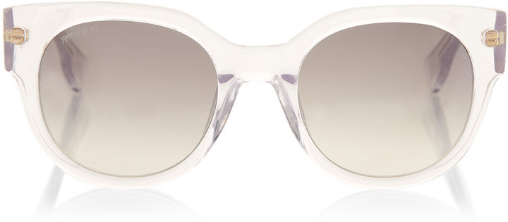 Jimmy Choo OLA Crystal Acetate Sunglasses with Crystal Application