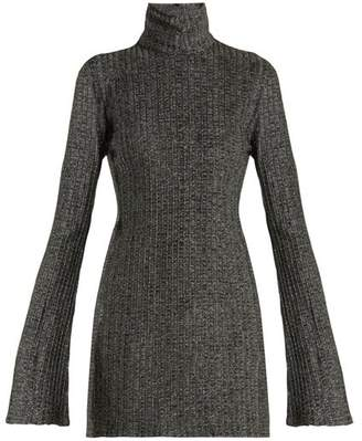 Ellery Generation High Neck Bell Sleeved Top - Womens - Silver