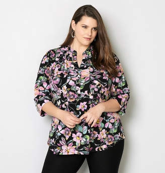 Avenue Floral Bloom Pleated Top