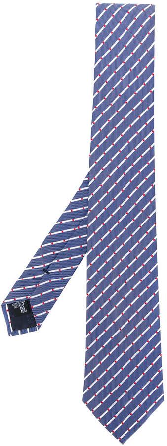jacquard striped pattern tie