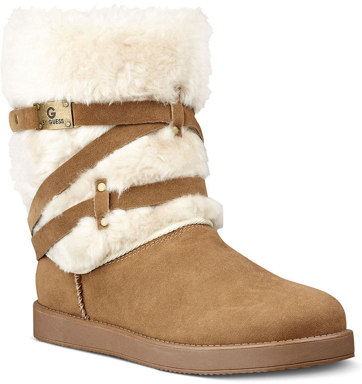 G by GUESS Archy Faux-Fur Cold Weather Boots