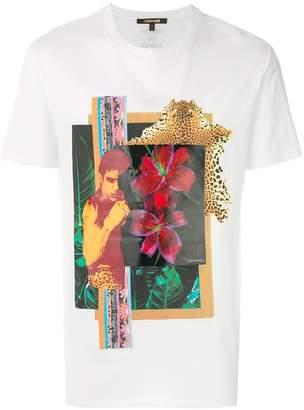 Roberto Cavalli collage print T-shirt