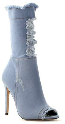 Cape Robbin Elnora Distressed Denim Boot