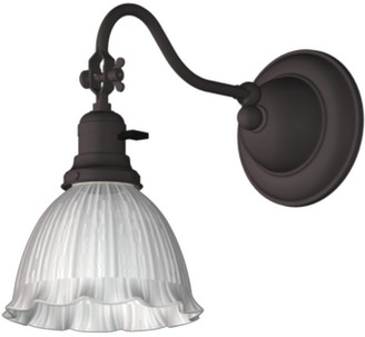 """Rejuvenation Ford's Mill 2-1/4"""" Fitter Single Swing-Arm Plug-In Sconce"""