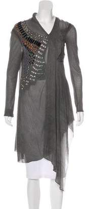 Yigal Azrouel Embellished Sheer Tunic