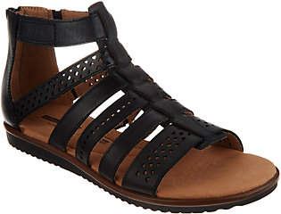 Clarks Leather Adjustable Gladiator Sandals -Kele Lotus