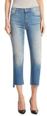 Mother Insider Frayed Step Hem Cropped Jeans