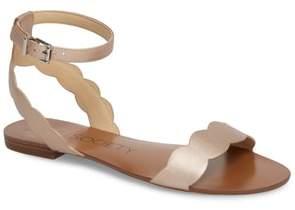 Sole Society 'Odette' Scalloped Ankle Strap Flat Sandal