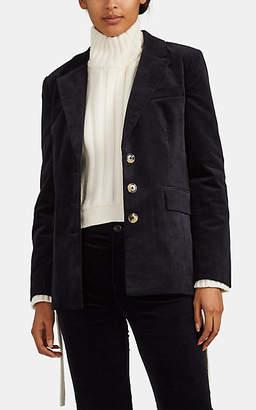 Current/Elliott Women's Beaufort Cotton Velvet Blazer - Navy