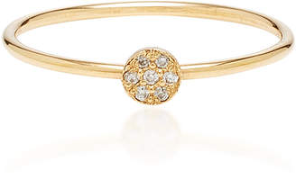 Chicco Zoe 14K Itty Bitty Pave Disc Ring
