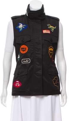 Coach 1941 Patch-Accented Zip-Up Vest