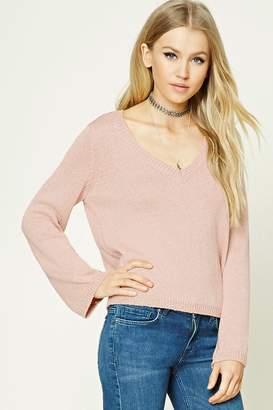 Forever 21 V-Neck Ribbed Sweater