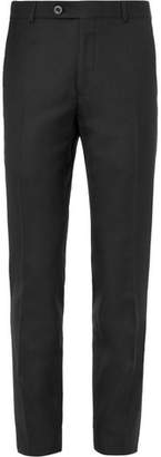 Mr P. Black Worsted Wool Trousers