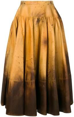Calvin Klein distressed look full skirt