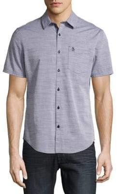 Original Penguin Slub Horizontal Stripes Cotton Button-Down Shirt