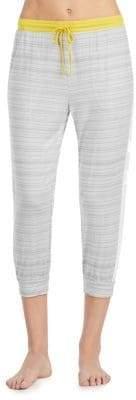 DKNY Striped Cropped Jogger Pants