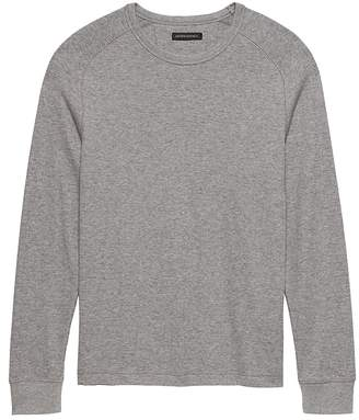 Banana Republic Core Temp Waffle-Knit Long-Sleeve T-Shirt