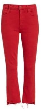 Mother Insider Crop Step Fray Hem Jeans