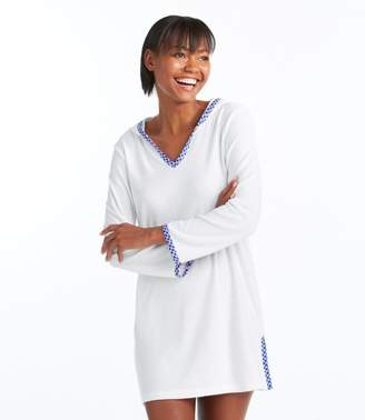 a5f2a8f8a5b4a L.L. Bean L.L.Bean Terry Caftan Hooded Cover-Up