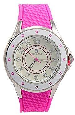 Adrienne Vittadini Watch ads9855s228 – 621ホワイトダイヤルゴムストラップクォーツムーブメントMovement