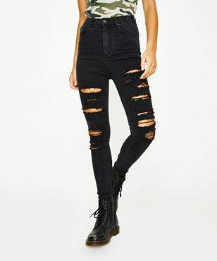Neon Hart Patti High Waist Super Skinny Hectic Blow Out Jean