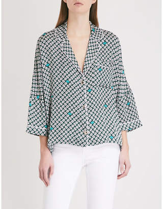 Maje Charline satin pyjama shirt