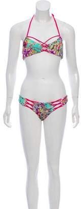 Beach Bunny Swimwear Jungle Print Two Piece Swimsuit w/ Tags