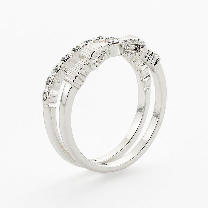 Lauren Conrad bow ring set