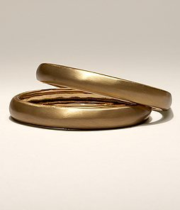 Gold Concave Bangle Bracelet